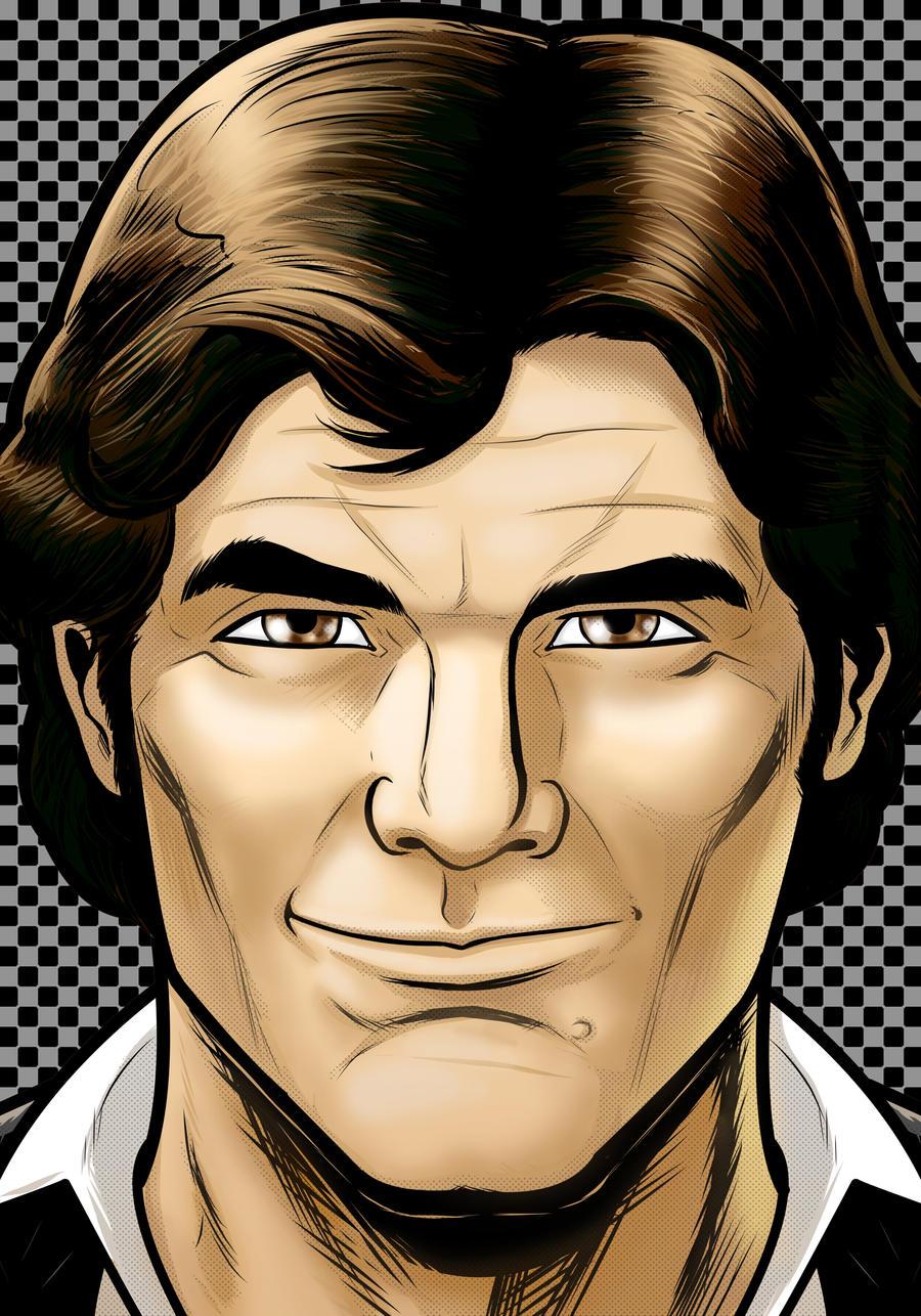 Han Solo Portrait Series by Thuddleston