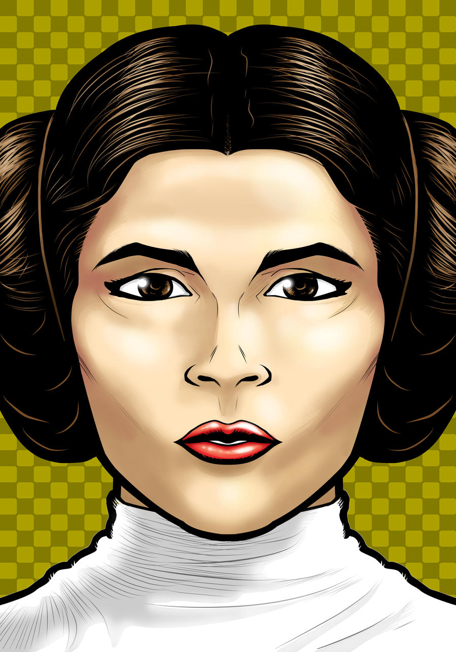 Princess Leia Portrait Shot by Thuddleston