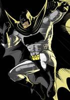 Dark Knight Batman Black Commission by Thuddleston