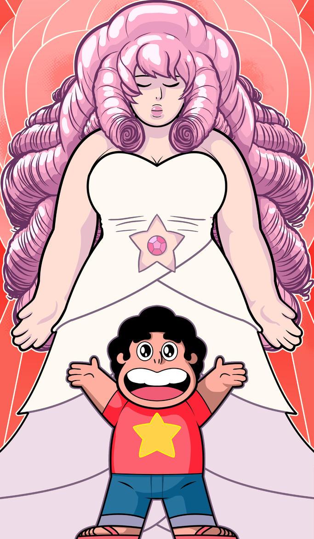 Rose Quartz and Steven Universe by Thuddleston