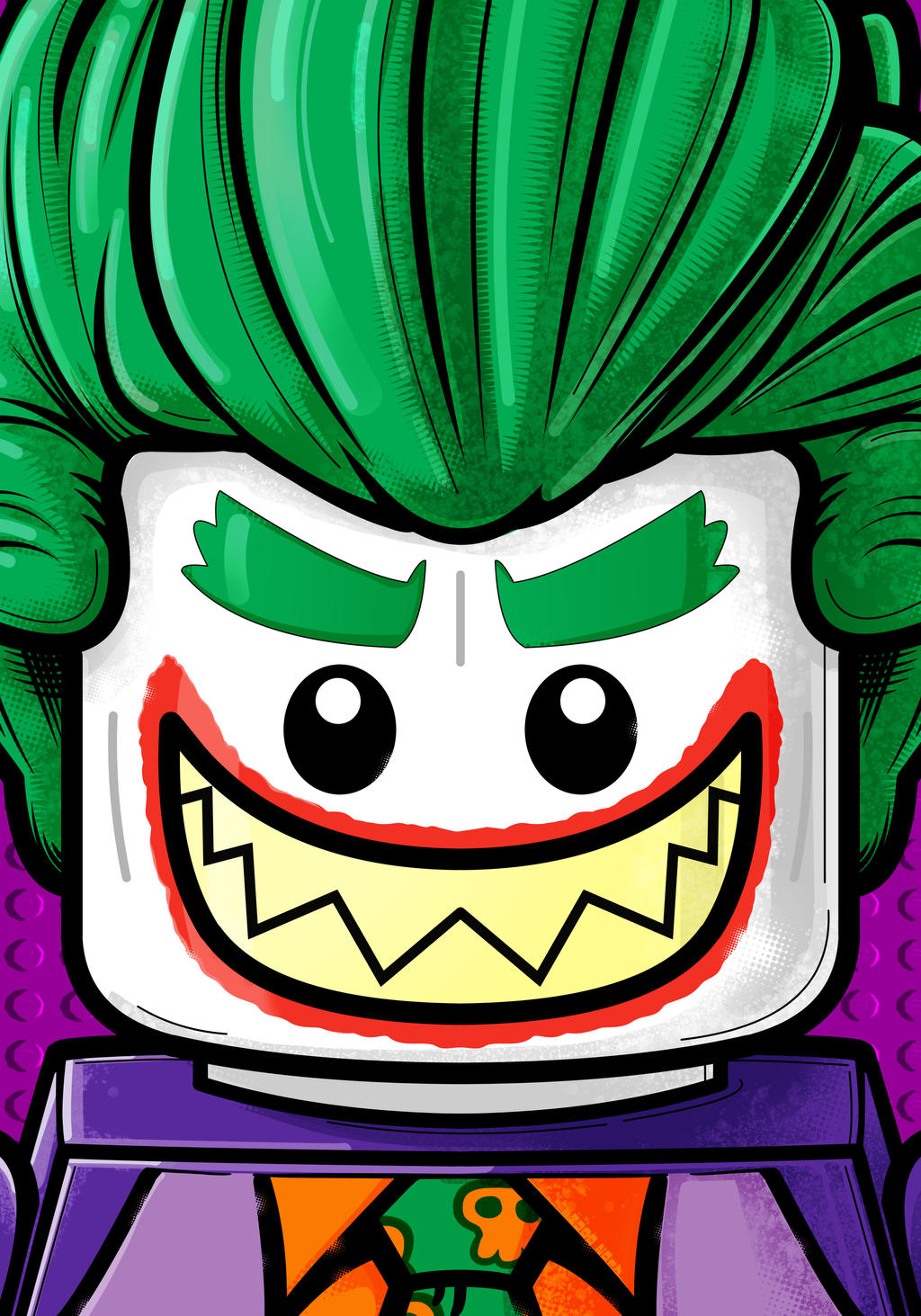 Lego Joker by Thuddleston