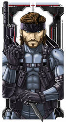 Solid Snake by Thuddleston