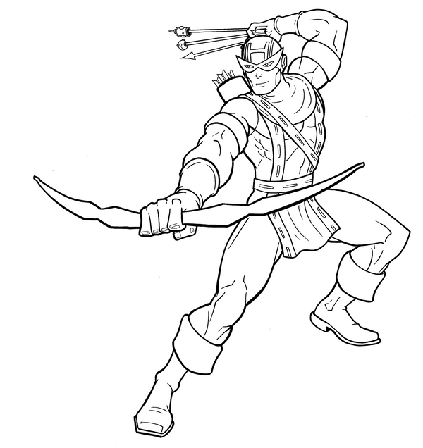 Hawkeye inks by thuddleston on deviantart for Marvel hawkeye coloring pages
