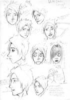 Duke Itachi Sketch Sheet by EzeKeiL