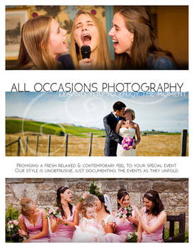 All Occasions Photography Flyer project