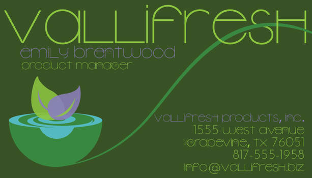 VallieFresh Business card