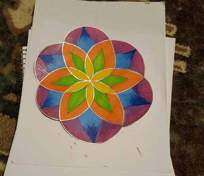 finished flower of life