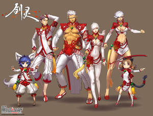 designed costume of Blade and soul China