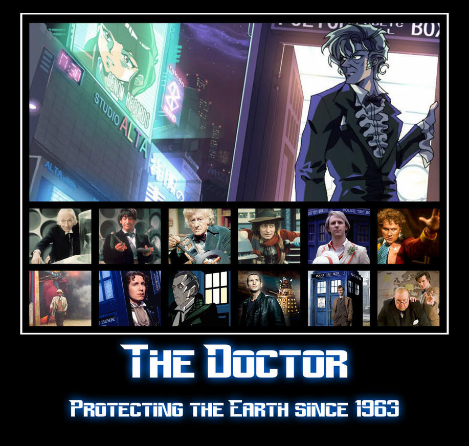 Doctor Who - 50th Anniversary Poster (Fan Made) by Maikeru1989