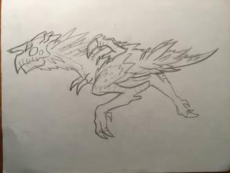 Alien bird creature