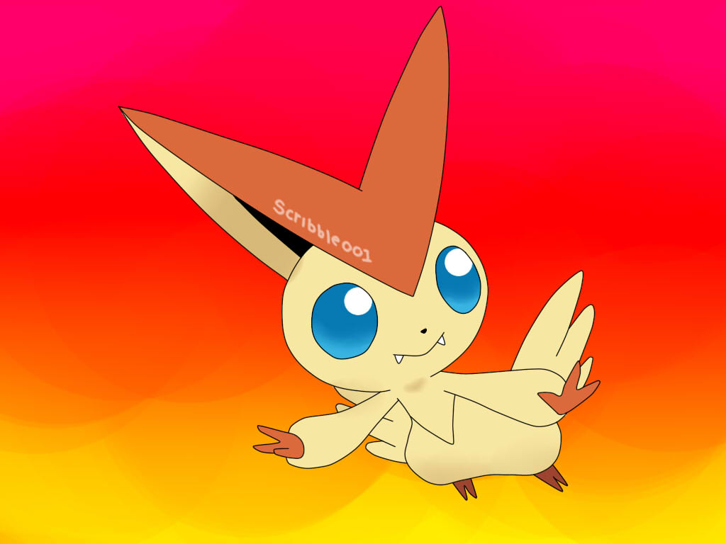 Victini - Facebook Request by Scribbles001