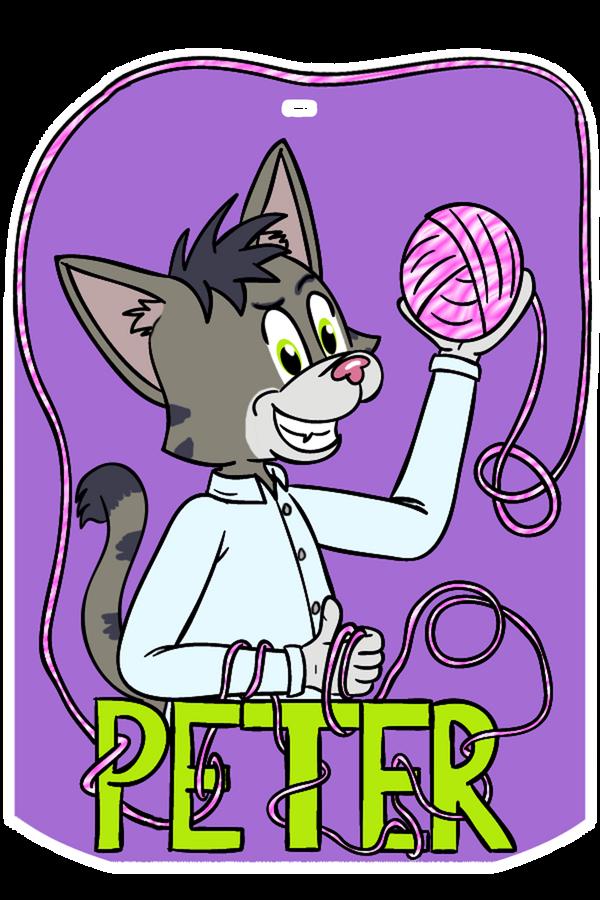 Peter Cat Badge