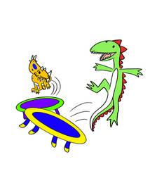 Dinosaur Trampoline