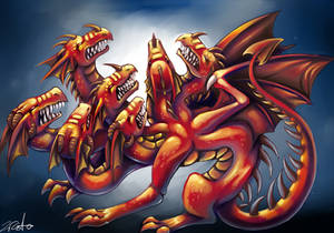 7 headed red dragon of the apocalypse