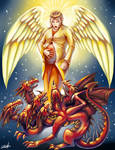 Bible - Seven headed red dragon (commission)