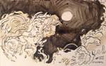 Inktober 10 - Gigantic (Entities - Worm) by Apfii