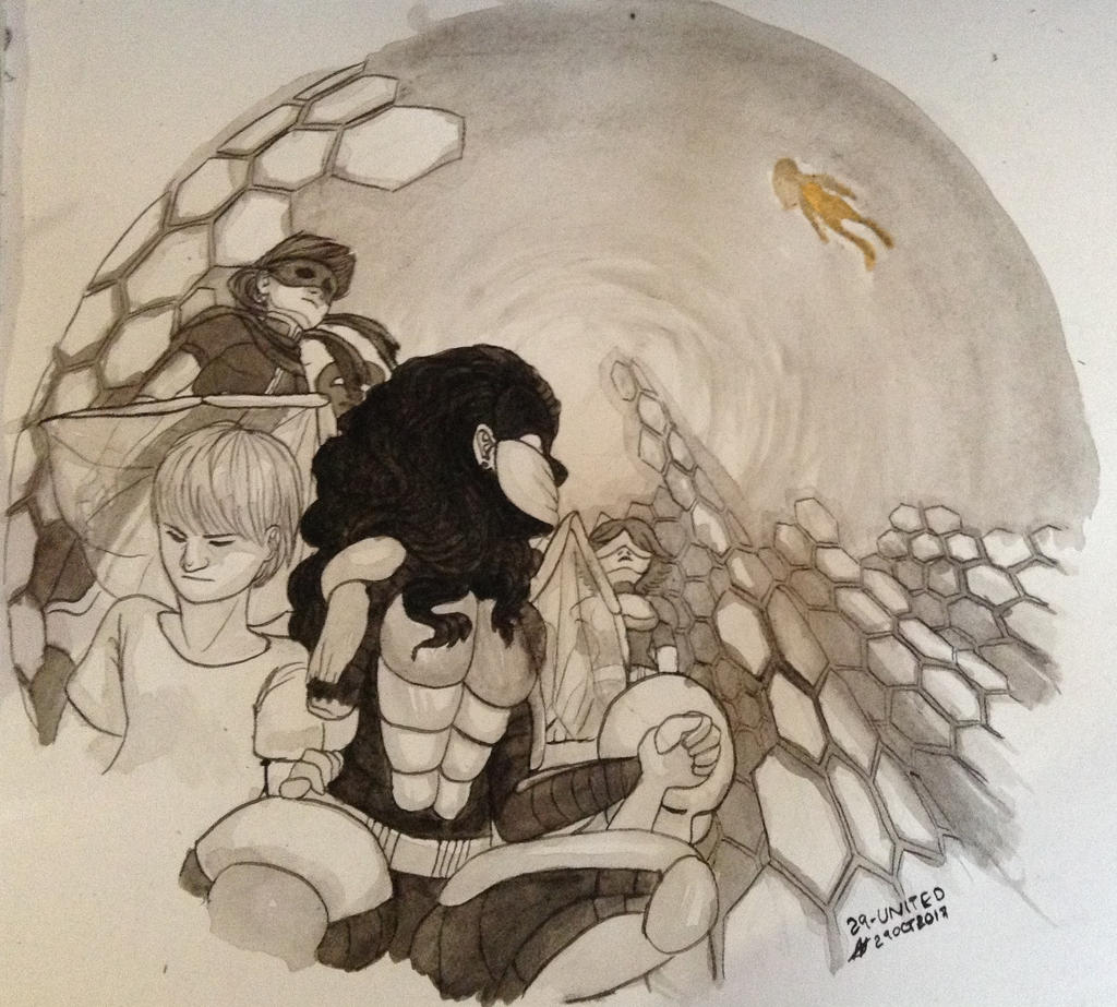 inktober_29___united__worm__by_apfii-dbs