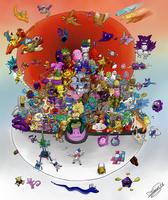 1st  Pokemon Generation BrawL by DRLM