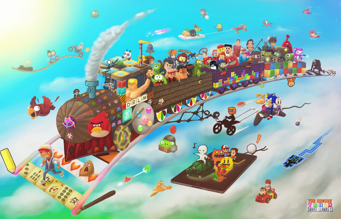 Arcade Game Wallpaper Group With 57 Items: The ARCADE Train! By DRLM On DeviantArt