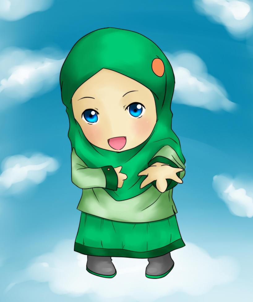 Chibi Hijab by YusufIsAzis