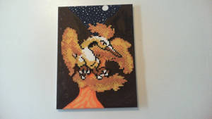 Moltres Perler/Painting