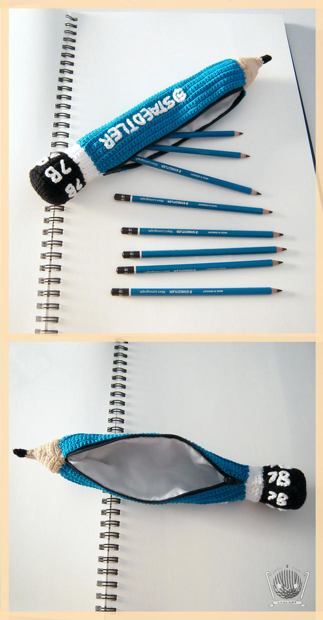 STAEDTLER PENCIL CASE CROCHET PLUSH by Tofe-lai