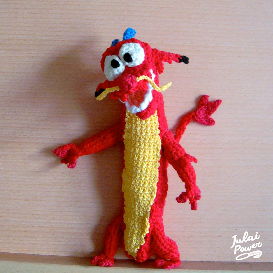 Disney: Mushu Crochet Plush by Tofe-lai on DeviantArt