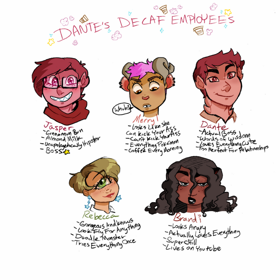 Dante's Decaf Employees by DoodlesInMiddleverse