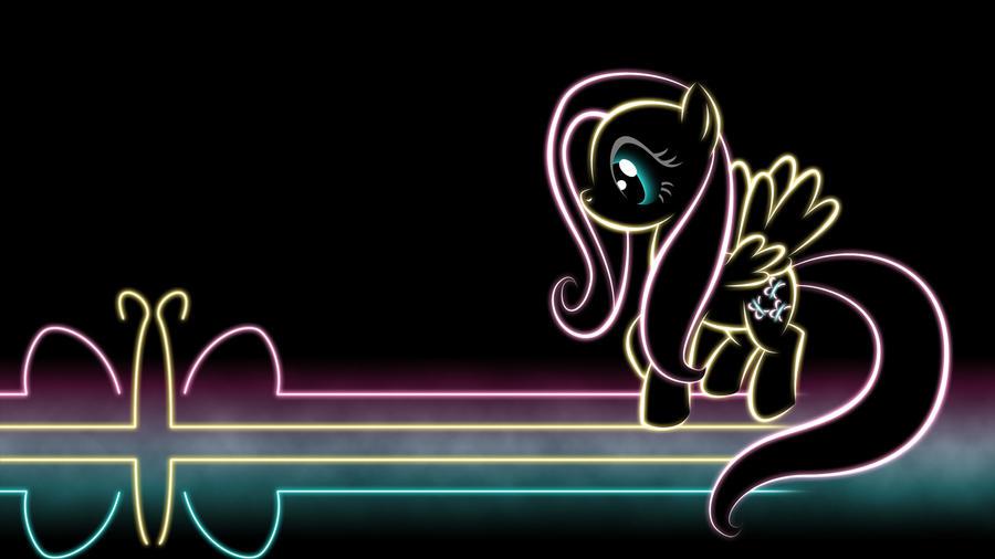 Fluttershy Glow Wallpaper by SmockHobbes