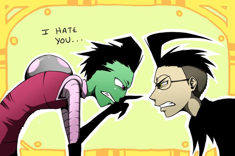 Zim And Gaz Anime Kiss zim and dib by SquidPu...