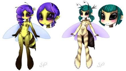 Bee girls by GhostMotus