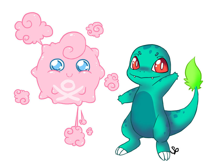 Pokemon Fusion Doodles by SquidPuke