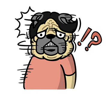 LINE_sticker_japan. bull_Pug_dog.kawaii. by hei-sho