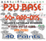 *NEW* Cub/Chibi Base P2U [ Paint friendly ]