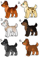 Pup Adopts | Free for Watchers - CLOSED by Sukida-Adopts
