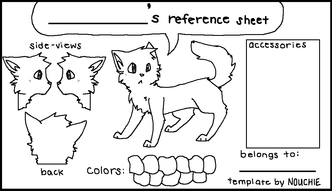 Reference Sheet Template By Nouchie On Deviantart