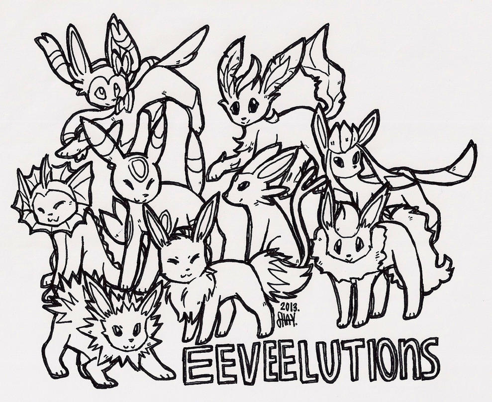 eeveelution coloring pages - photo #2