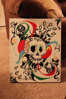 Day of the Dead Skull by laece