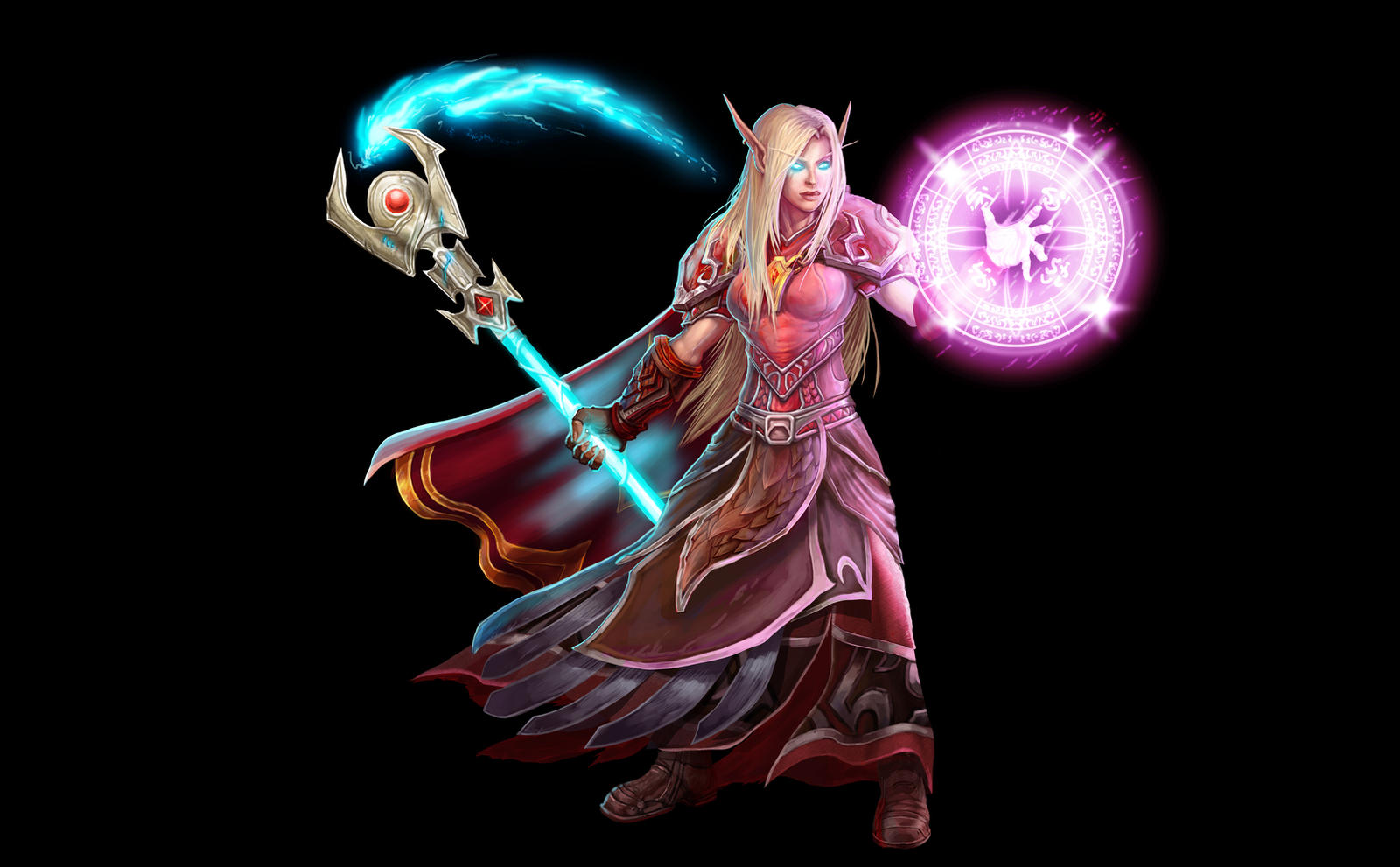 Blood elf female mages pom animation erotic cute pussy