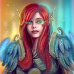 ...Commission: Blood Elf Paladin Bust...