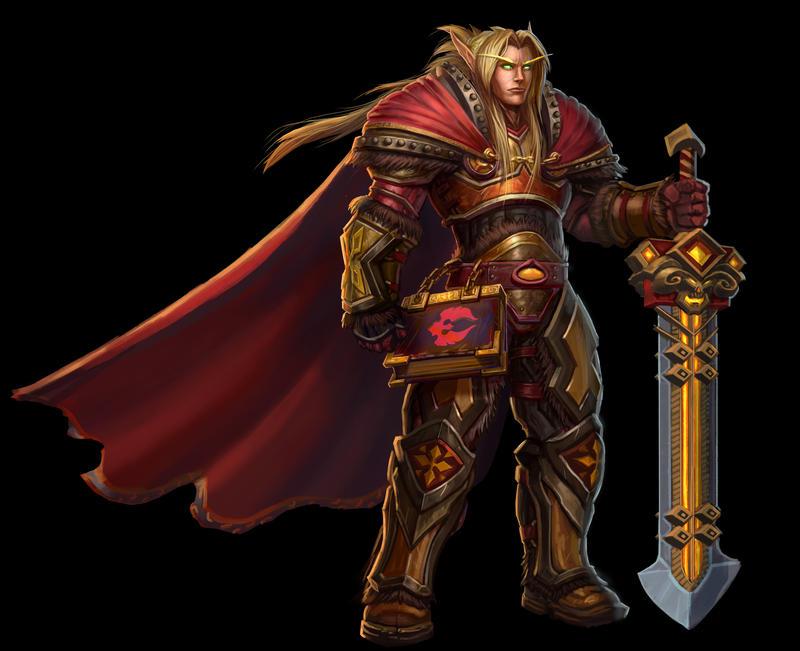 ...Commission: Blood Elf Paladin Tendael...