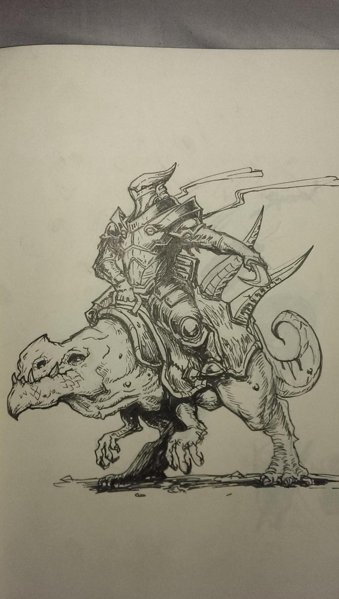 ...Inktober: Rider... by ShadowPriest