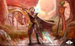 ...Commission: Blood Elf Mage...