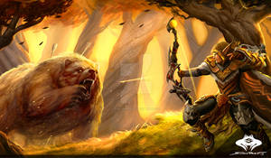 ...Commission: Blood Elf Hunter Scene...