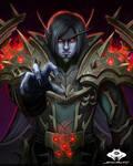 ...Commission: Void Elf Warlock...