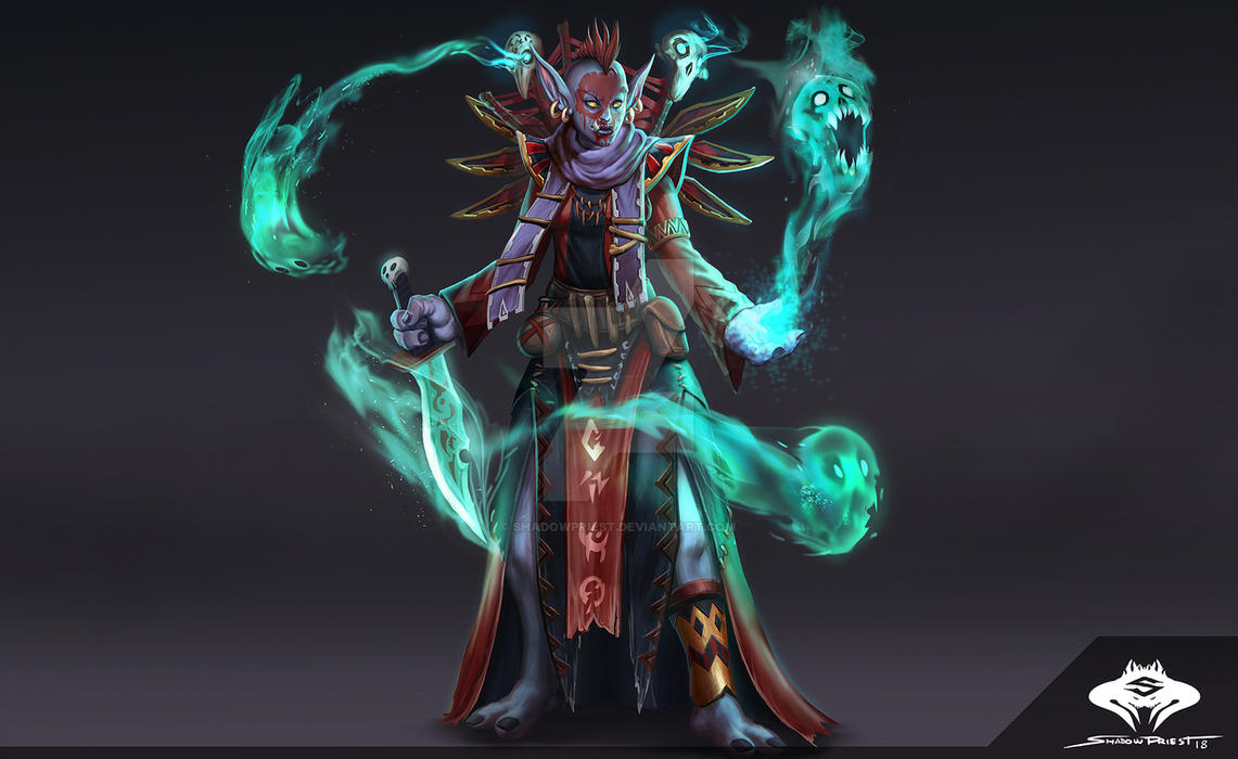 Commission: Troll Voodoo Priestess    by ShadowPriest on