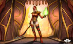 ...Commission: Blood Elf Warlock...