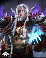 ...Commission: Blood Elf Death Knight... by ShadowPriest