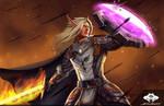 ...Commission: Blood Elf Warrior...