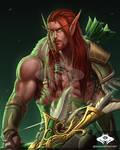 ...Commission: Blood Elf Hunter...